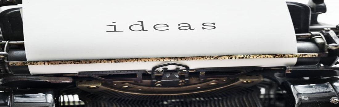 Ideas on a typewriter