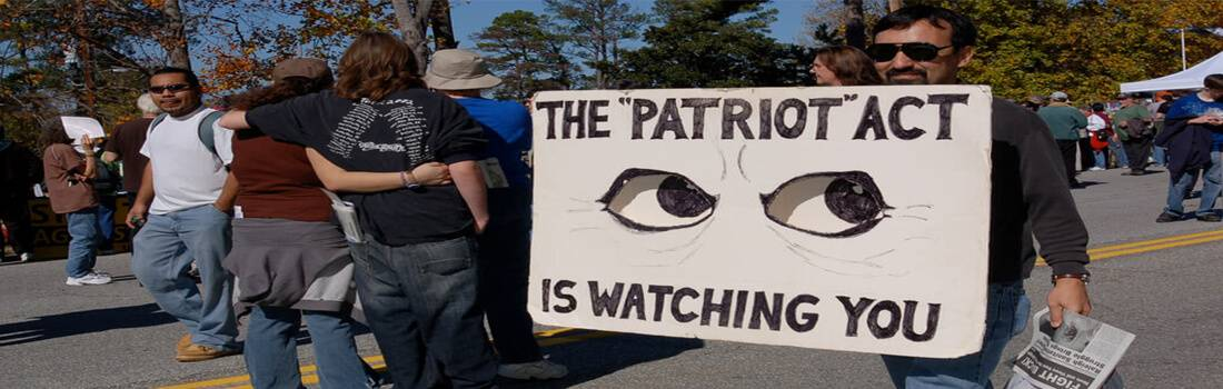 Civil Liberty and the U.S. Patriot Act - Post banner