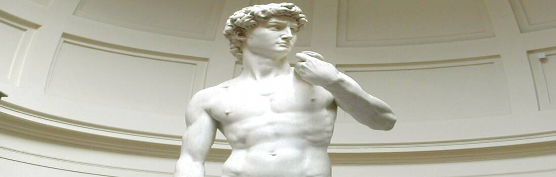 Donatello's and Michelangelo's Sculpture's of David - Post banner