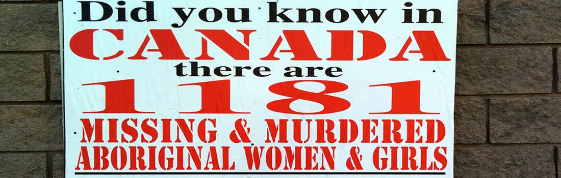 Expository Essay on Missing and Murdered Aboriginal Women in Canada - Post banner