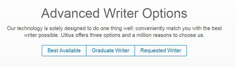 Screengrab of advanced writer options from our site.