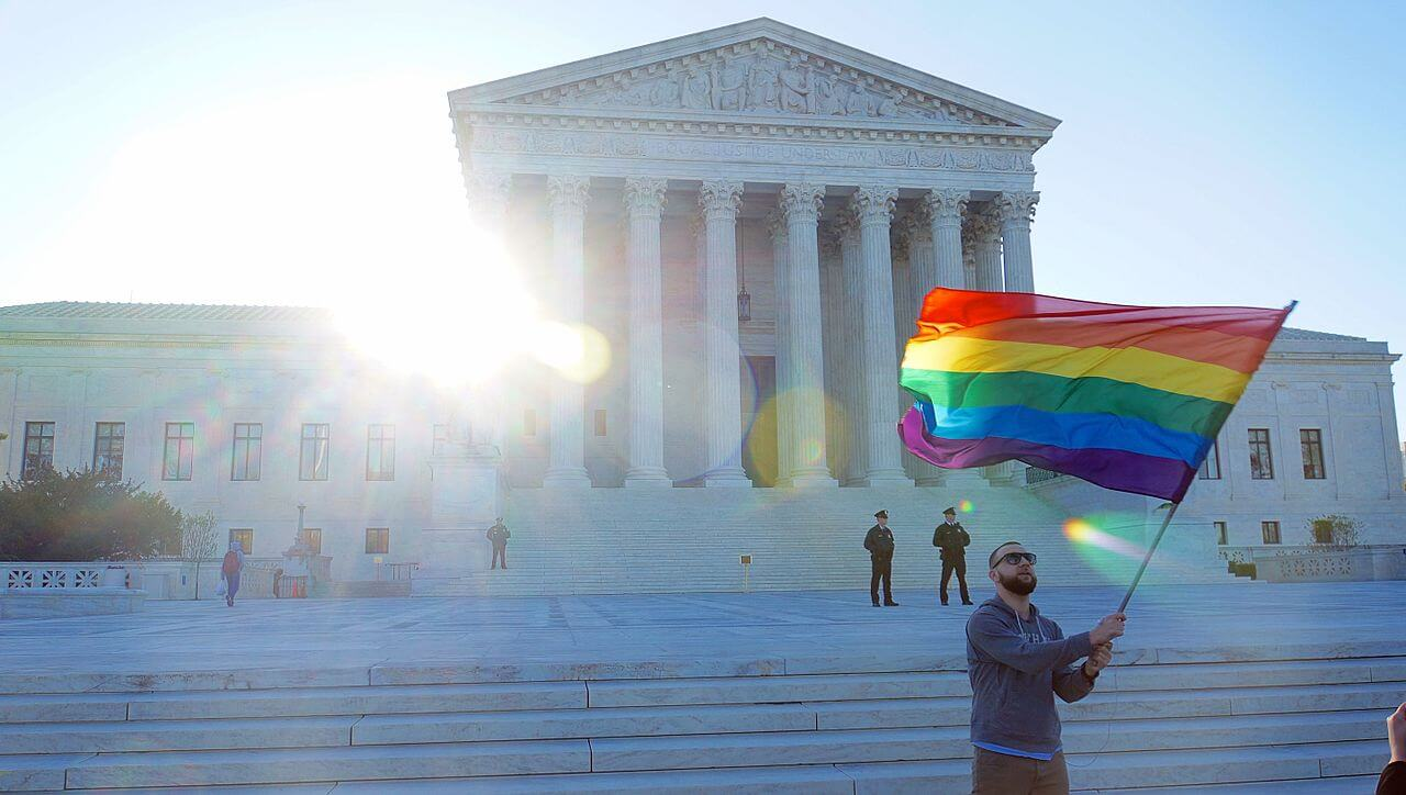 sample research paper on gay marriage legalize gay blog  man waves gay pride flag outside supreme court