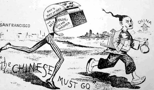Chinese Exclusion Act newspaper illustration