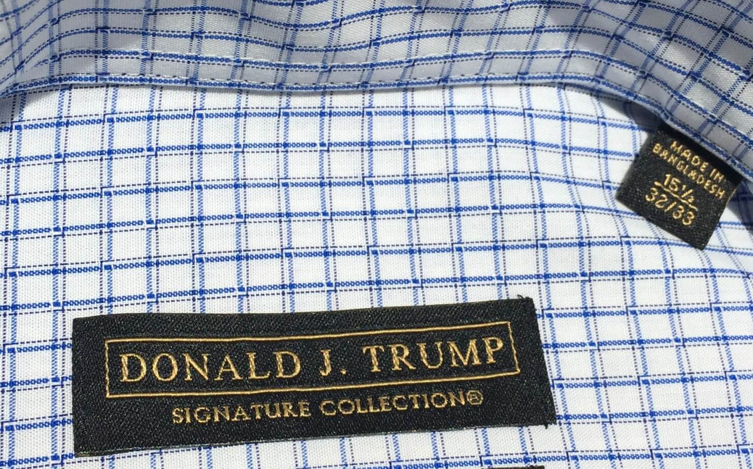 'Made in Bangladesh' tag inside Donald Trump's 'Signature Collection' shirt - Washington Post