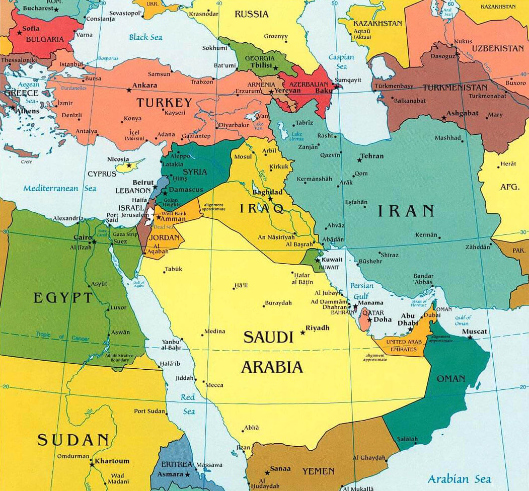 Map of the Middle East - University of Texas Libraries