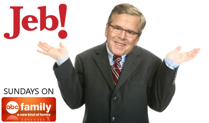 Jeb Bush uses ! in presidential campaign logo.