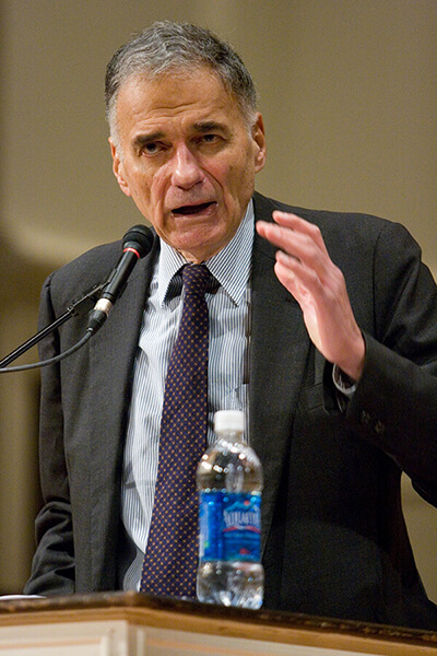Ralph Nader has been accused of siphoning votes from Al Gore in 2000
