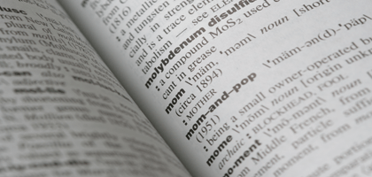 Dissertation glossary terms