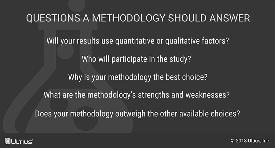Questions a dissertation methodology should answer