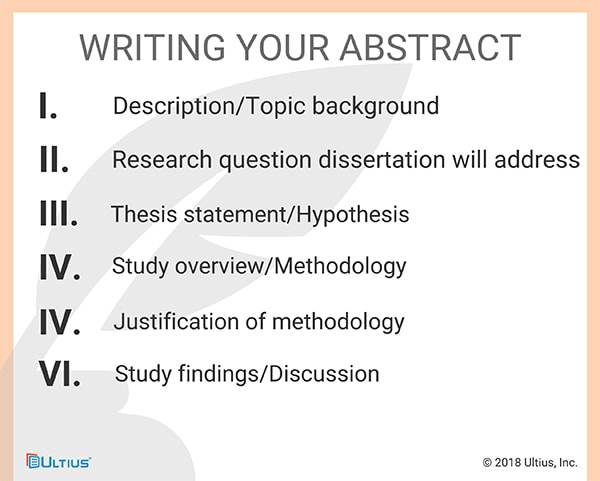 How to write your dissertation abstract