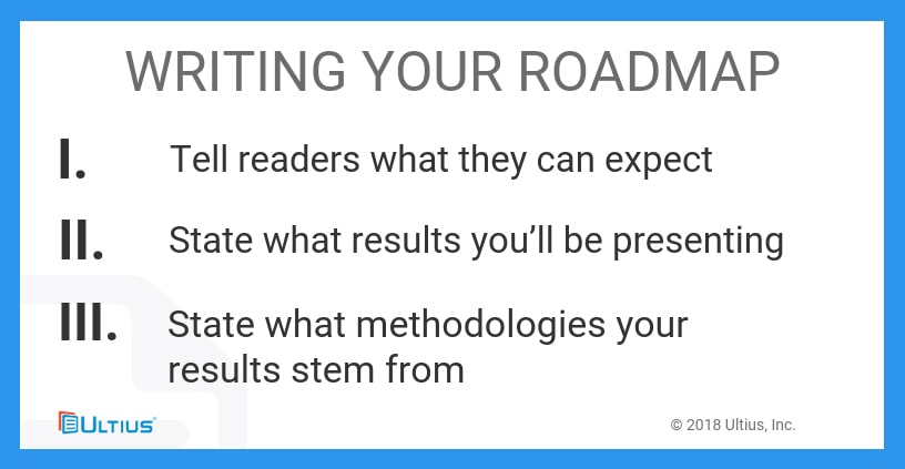 How to write the roadmap of a dissertation.